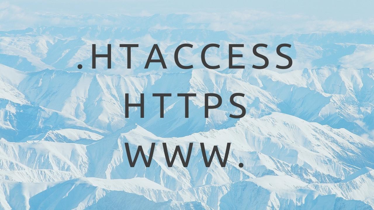 Configurer .htaccess symfony avec https et sans www