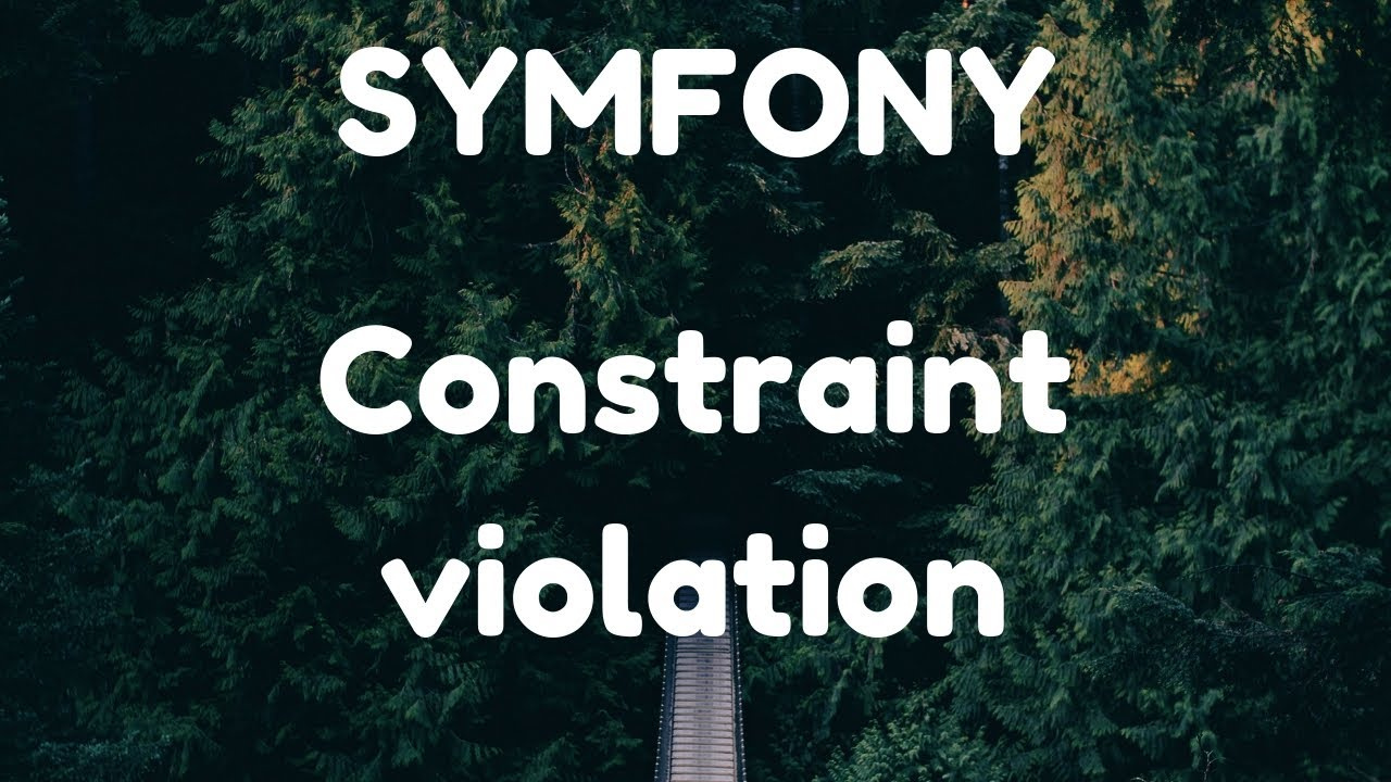Symfony - Integrity constraint violation